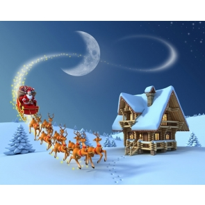 White Snow David's Deer Santa Claus Christmas Party Photography Background Props