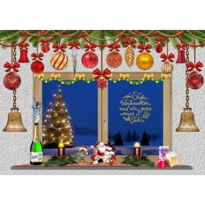 Merry Christmas Wall Background Christmas Party Backdrop
