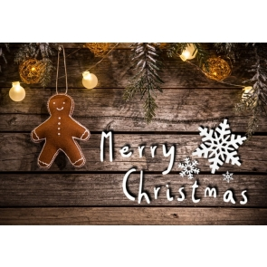 Merry Christmas Wood Board Christmas Party Backdrop Photography Background