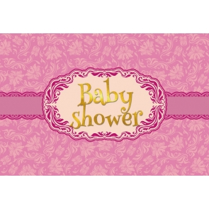Simple Purple Theme Baby Shower Backdrop Party Photography Background