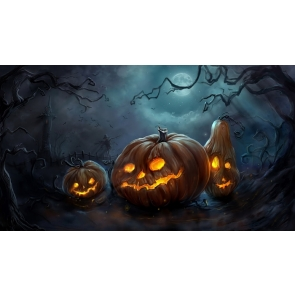 Spooky Pumpkin Theme Halloween Background Party Backdrop Decorations