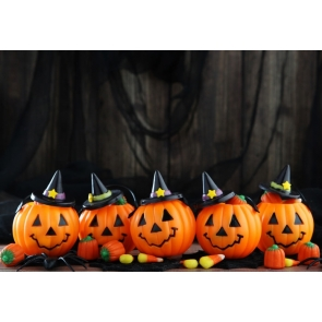 Pumpkin Theme Decorations Halloween Background Party Backdrop