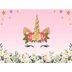 New Attractive Unicorn Backdrop Baby Shower Birthday Party Background