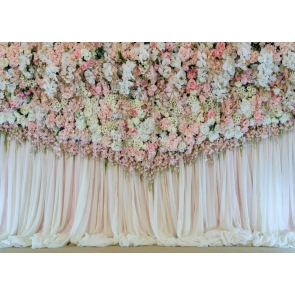 Wedding Party Flower Wall Backdrop Bridal Shower Photography Background