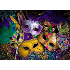 Mardi Gras Backdrop Party Wallpaper Photography Background Decorations
