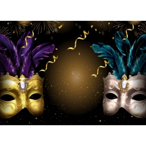 Birthday Dancing Mask Backdrop Carnival Mystery Masquerade Background