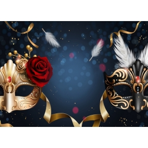 Masquerade Mardi Gras Backdrop Party Decorations Photography Background
