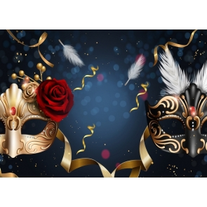 Mystery Mask Backdrop Carnival Party Masquerade Birthday Dancing Background