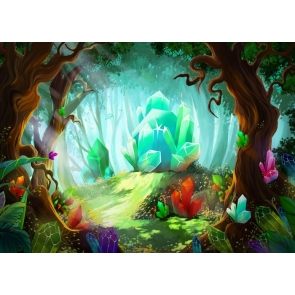 Fairy Tale Forest Crystal Ore Wonderland Backdrop Party Studio Photography Background