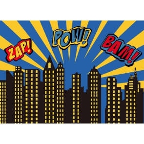 Zap Pow Bam Children Birthday Party Backdrop Studio Photography Background