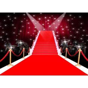 Vinyl Red Carpet Backdrop Stage Party Photography Background