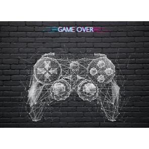 Black Brick Wall Backdrop Game Over Background