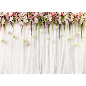 Bridal Shower Photography Background Flower Wall Wedding Backdrop