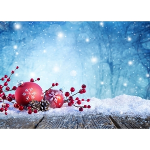 Snowflake Wood Board Bokeh Christmas Party Backdrop Photo Booth Stage Photography Background
