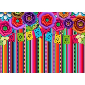 Carnival Fiesta Backdrop Photography Mexican Element DIY Party Background