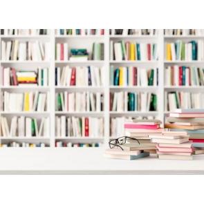Bokeh Bookshelf Backdrop Bookcase Photography Background