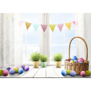 Window Bunting Baby Shower Birthday Party Backdrop Stage Photography Background