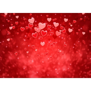 Red Heart Love Theme Valentines Day Backdrop Wedding Photography Background