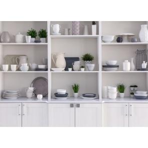 Fake Kitchen Backdrop Tableware Cabinet Photography Background