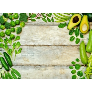 Creative Vegetables Wood Backdrop Kitchen Photography Background