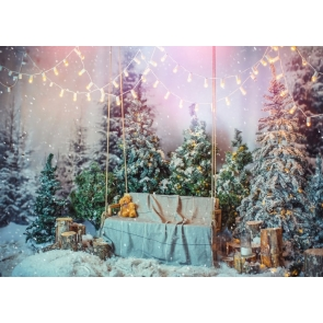A Lot Of Christmas Tree Stage Background Christmas Party Backdrops