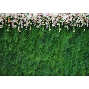 Green Leaves Floral Wall Backdrop Wedding Bridal Baby Shower Birthday Party Photography Background