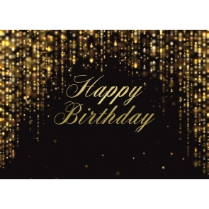 Golden Glitter Adult Happy Birthday Backdrop Decorations Photography Background