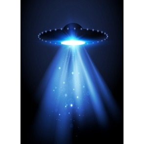 Light In Dark Blue UFO Theme Backdrop Studio Photography Background