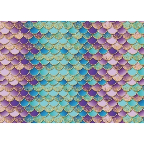 Mermaid Scales Wallpaper Baby Shower Birthday Party Backdrop Photography Background