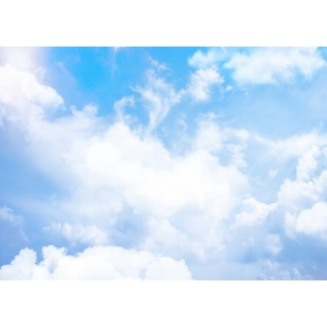 Blue Sky White Cloud Party Backdrop Photo Studio Photography Background