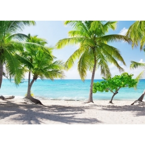 Tropical Summer Palm Tree Ocean Beach Backdrop Party Photography Background