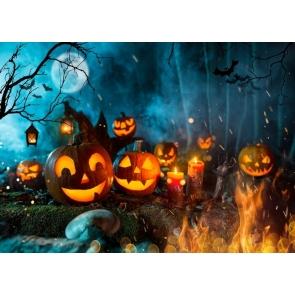 Pumpkin Party Theme Halloween Backdrop Decoration Prop Photography Background