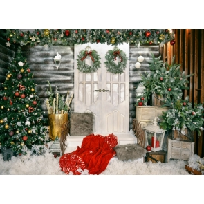 Christmas Tree Background Dress Up Christmas Party Backdrop