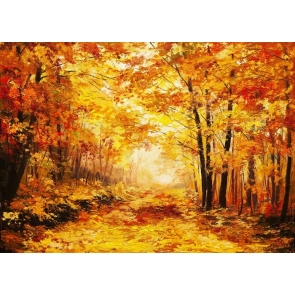 Yellow Maple Leaves Autumn Scenic Backdrop Photo Booths Studio  Photography Background