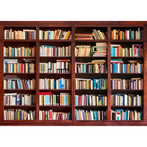 Bookshelf Backdrop Bookcase Wall Photography Background