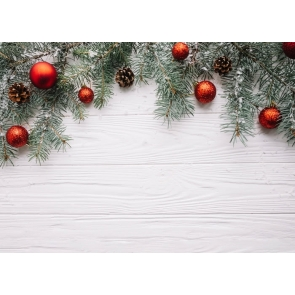 Rustic Christmas Backdrop Christmas Tree Branch Wood Board Background