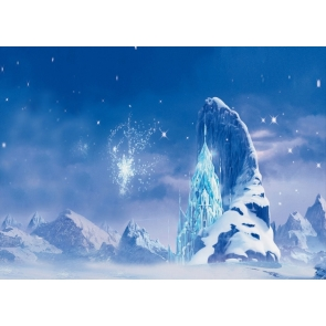 Winter Snow Ice Crystal Castle Christmas Backdrops For Stage