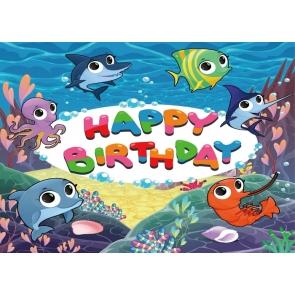 Marine Shark Baby Shower Happy Birthday Party Photography Backdrop