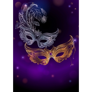 Mardi Gras Masquerade Party Backdrop Wallpaper Decorations Photography Background