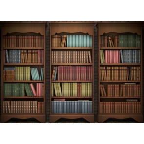 Retro Bookcase Bookshelf Backdrop Studio Photography Background