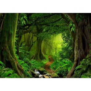 Green Big Tree Jungle Forest Backdrop Stage Party Photography Background