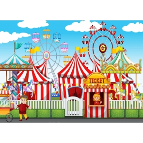 Circus Carnival Ferris Wheel Kids Birthday Party Backdrop Decoration Prop