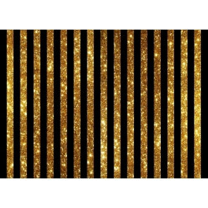 Black And Gold Glitter Stripe Backdrop For Adults Children Happy Birthday Party Photography Background