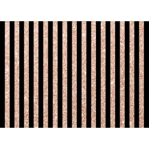 Black And Rose Gold Glitter Stripe Backdrop Happy Birthday Party Photography Background