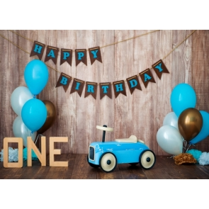 Simple One Year Old First 1st Birthday Banner Backdrop Cake Smash Decoration Prop Photography Background
