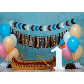 Simple First 1st Happy Birthday Banner Backdrop Cake Smash Decoration Prop Photography Background