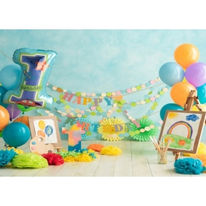 Baby One Year Old First 1st Happy Birthday Cake Smash Backdrop Prop Photography Background