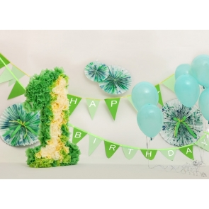 Baby First 1st Happy Birthday Banner Backdrop Cake Smash Decoration Prop Photography Background