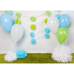 Simple Balloon Theme Baby Shower Backdrop Happy Birthday Backdrop Studio Photography Background Decoration Prop