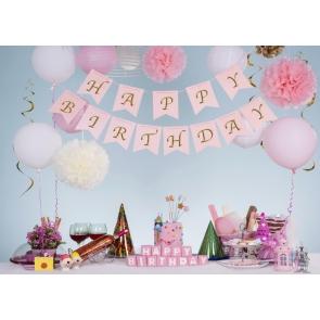 Kid Baby Happy Birthday Backdrop Cake Smash Decoration Prop Photography Background